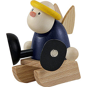 Kleine Figuren & Miniaturen Hans & Lotte (Hobler) Engel Hans auf Schlitten - 7 cm