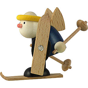 Kleine Figuren & Miniaturen Hans & Lotte (Hobler) Engel Hans beim Langlauf - 7 cm