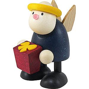 Kleine Figuren & Miniaturen Hans & Lotte (Hobler) Engel Hans mit Geschenk - 7 cm