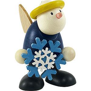 Kleine Figuren & Miniaturen Hans & Lotte (Hobler) Engel Hans mit Schneeflocke - 7 cm