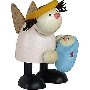 Geschenkideen Geburt und Taufe Engel Lotte mit Baby Junge - 7 cm