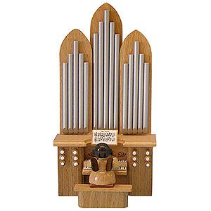 Weihnachtsengel Engel - natur - klein Engel an der Orgel mit Spielwerk