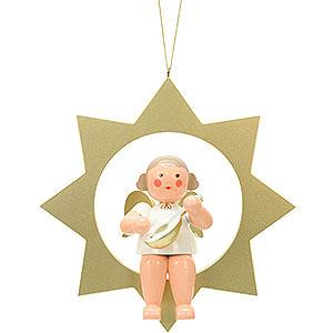 Weihnachtsengel Sonstige Engel Engel im Stern - 26,0 cm