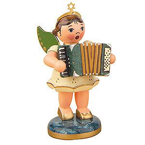 Weihnachtsengel Orchester (Hubrig) Engel mit Akkordeon - 6,5 cm