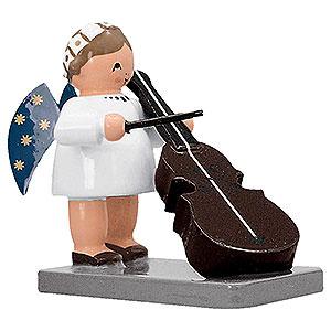 Weihnachtsengel Engelsorchester (KWO) Engel mit Bassgeige - 5 cm