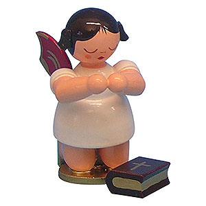 Weihnachtsengel Sonstige Engel Engel mit Bibel - Rote Flügel - kniend - 6 cm