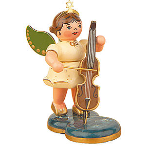 Weihnachtsengel Orchester (Hubrig) Engel mit Cello - 6,5 cm
