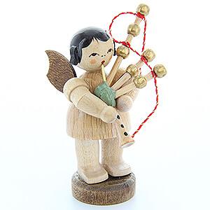Weihnachtsengel Engel - natur - klein Engel mit Dudelsack - natur - stehend - 6 cm