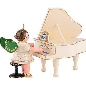 Weihnachtsengel Orchester (Hubrig) Engel mit Flügel - 6,5 cm