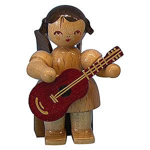 Weihnachtsengel Engel - natur - klein Engel mit Gitarre - natur - sitzend - 5 cm