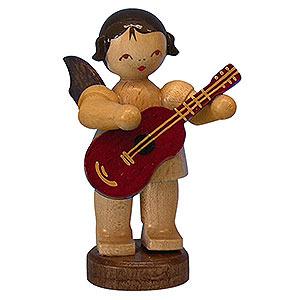 Weihnachtsengel Engel - natur - klein Engel mit Gitarre - natur - stehend - 6 cm