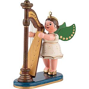 Weihnachtsengel Orchester (Hubrig) Engel mit Harfe - 10 cm