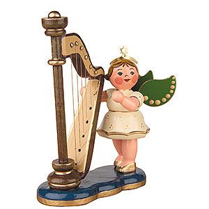 Weihnachtsengel Orchester (Hubrig) Engel mit Harfe - 6,5 cm