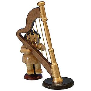 Weihnachtsengel Engel - natur - klein Engel mit Harfe - natur - sitzend - 6 cm