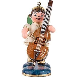 Weihnachtsengel Orchester (Hubrig) Engel mit Kontrabaß - 6,5 cm
