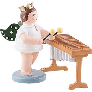 Weihnachtsengel Orchester mit Krone (Ellmann) Engel mit Krone am Xylophon - 6,5 cm