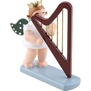 Weihnachtsengel Orchester mit Krone (Ellmann) Engel mit Krone und Harfe - 6,5 cm