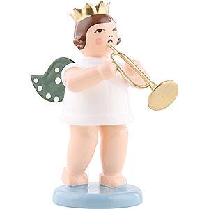 Weihnachtsengel Orchester mit Krone (Ellmann) Engel mit Krone und Jazztrompete - 6,5 cm