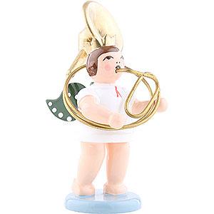 Weihnachtsengel Orchester mit Krone (Ellmann) Engel mit Krone und Sousaphon - 6,5 cm