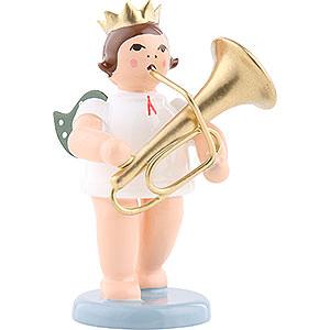 Weihnachtsengel Orchester mit Krone (Ellmann) Engel mit Krone und Tuba - 6,5 cm