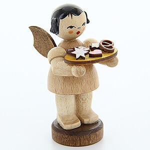 Weihnachtsengel Engel - natur - klein Engel mit Lebkuchenblech - natur - stehend - 6 cm