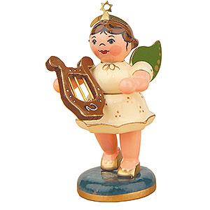 Weihnachtsengel Orchester (Hubrig) Engel mit Leier - 6,5 cm