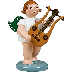 Weihnachtsengel Orchester (Ellmann) Engel mit Lyragitarre - 6,5 cm
