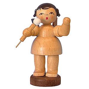 Weihnachtsengel Engel - natur - klein Engel mit Mikrofon - natur - stehend - 6 cm