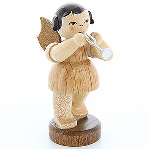 Weihnachtsengel Engel - natur - klein Engel mit Piccolotrompete - natur - stehend - 6 cm