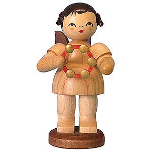 Weihnachtsengel Engel - natur - groß Engel mit Schellenring - natur - stehend - 9,5 cm