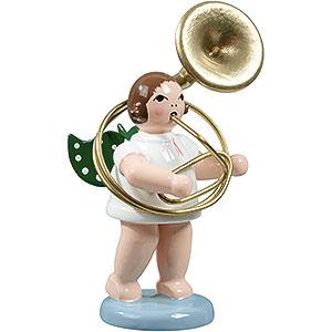 Weihnachtsengel Orchester (Ellmann) Engel mit Sousaphon - 6,5 cm