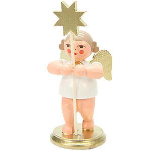 Weihnachtsengel Orchester weiß & gold (Ulbricht) Engel mit Stern - 8,5 cm