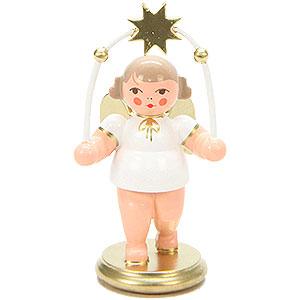 Weihnachtsengel Orchester weiß & gold (Ulbricht) Engel mit Sternenbogen - 8,5 cm
