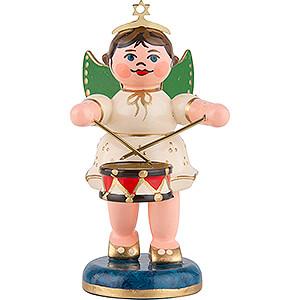 Weihnachtsengel Orchester (Hubrig) Engel mit Trommel - 6,5 cm