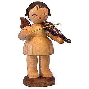Weihnachtsengel Engel - natur - groß Engel mit Violine - natur - stehend - 9,5 cm