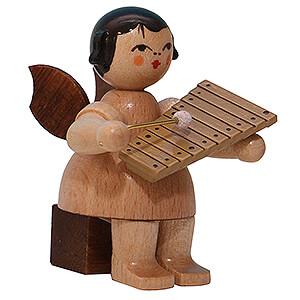 Weihnachtsengel Engel - natur - klein Engel mit Xylophon - natur - sitzend - 5 cm