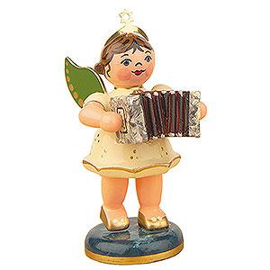 Weihnachtsengel Orchester (Hubrig) Engel mit Ziehharmonika - 6,5 cm