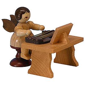 Weihnachtsengel Engel - natur - klein Engel mit Zither - natur - stehend - 6 cm