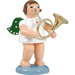 Weihnachtsengel Orchester (Ellmann) Engel mit russischem Horn - 6,5 cm