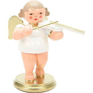 Weihnachtsengel Orchester weiß & gold (Ulbricht) Engel weiß/gold mit Geige - 6,0 cm