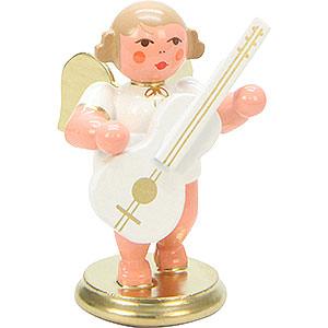 Weihnachtsengel Orchester weiß & gold (Ulbricht) Engel weiß/gold mit Gitarre - 6,0 cm
