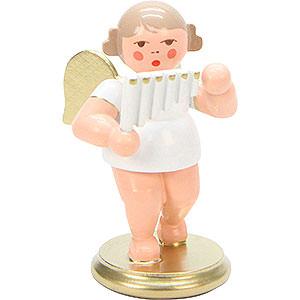 Weihnachtsengel Orchester weiß & gold (Ulbricht) Engel weiß/gold mit Panflöte - 6,0 cm