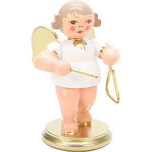 Weihnachtsengel Orchester weiß & gold (Ulbricht) Engel weiß/gold mit Triangel - 6,0 cm
