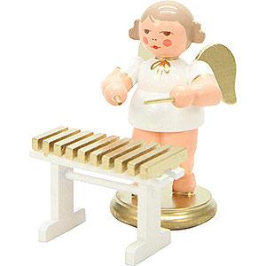 Weihnachtsengel Orchester weiß & gold (Ulbricht) Engel weiß/gold Xylophon - 6,0 cm