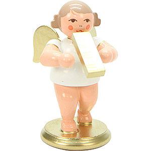 Weihnachtsengel Orchester weiß & gold (Ulbricht) Engel weiß/gold mit Melodika - 6,0 cm