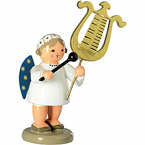 Angels Orchestra of Angels (KWO) Engel with Bell Lyra - 5 cm / 2 inch
