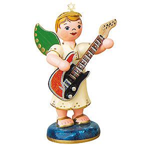 Weihnachtsengel Orchester (Hubrig) Engelbub mit E-Gitarre - 6,5 cm