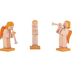 Weihnachtsengel Sonstige Engel Engelgruppe mit Flöte 3-teilig - 5,5 cm