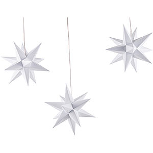Bestseller Erzgebirge-Palace Moravian Star Set of Three White incl. Lighting - 17 cm / 6.7 inch