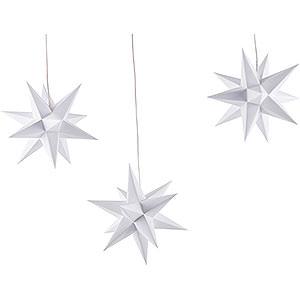 Adventssterne und Weihnachtssterne Erzgebirge-Palast Sterne Erzgebirge-Palast Adventsstern 3er-Set weiß - 17 cm